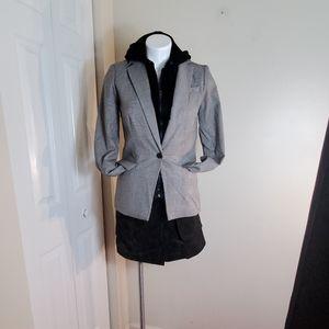 Cynthia Rowley detachable hooded blazer